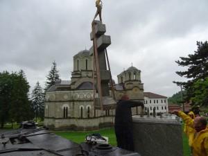 Фото; Митко Спироски, Лешок, 21.05.2016, Лешочкиот манастир доби крст-Паметник
