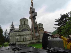 Фото: Митко Спироски, 21.05.2016, Крстот - Паметник подарен од Руската амбасада на Лешочкиот манастир