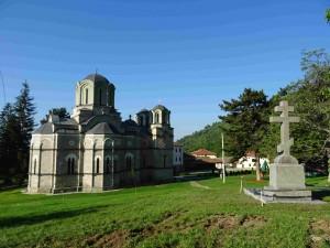 Фото: Митко Спироски, Лешок,23 мај 2016, Лешочкиот манастир е разубавен со нов крст-паметник