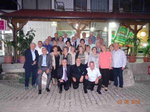 Тетово, 02 јуни 2018 година, 50 години од матурата ученици 1967/68 од Гимназијата,Кирил Пејчинович,Тетово